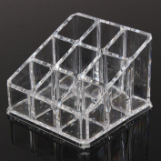 1 Set of Marvellous Nail Polish Rack Acrylic Display Stand Holder Colour Clear with 9 Grids