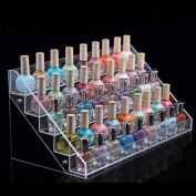 1pc with 5 layer Colour Transparent Lovely Holder Display Stand Acrylic Storage Nail Polish Rack