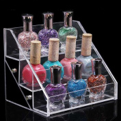 1pc with 3 layer Colour Transparent Exquisite Beauty Makeup Acrylic Storage Display Stand Nail Polish Rack