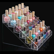 1pc with 6 layer Colour Transparent Grand Display Stand Organiser Beauty Makeup Nail Polish Rack