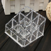 1 Set of Pretty Nail Polish Rack Display Stand Acrylic Organiser Colour Clear with 9 Grids