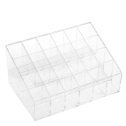 Ieasysexy 4 Tier Holds 24 Lipsticks 15cm X 9.7cm X 5.1cm Transparent Clear Acrylic Trapezoid Cosmetic Lotion Makeup Organiser Storage Display Holder Stand