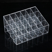 Clear 24 Squared Makeup Cosmetic Storage Rack Display Holder