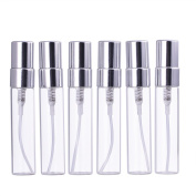 MUB 6 Pcs 5 ml Glass Perfume Small Travel Bottles Refillable Perfume Spray Container
