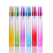 MUB Colourful Travel Glass 10ml Small Empty Aromatic Fragrance Fine Mist Spray Perfume Bottles Atomizers