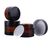 5Pcs 50Ml Glass Cosmetic Container With Face Cream Water Perfum Lip Blam For Women Travel Convience