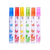 MUB Colours Perfume Spray Bottles 10ml Perfume Bottle Glass for Refillable Perfume and Travel to go, Butterfly Print