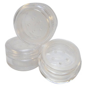 Clear Sifter Loose Powder Jar