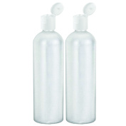 Moyo Natural Labs Commercial Grade 32 Ounce Easy Squeeze HDPE Bottles with White Flip Cap BPA Free Bottle Set Made in USA (946ml) 32 OZ White Translucent Pack of 2