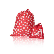 Thirty One Timeless Memory Pouches in Swirl Dot - No Monogram - 3885