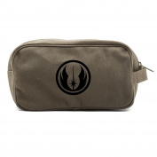 Jedi Order Logo Canvas Shower Kit Travel Toiletry Bag Case in Olive WITH DECAL
