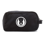 Jedi Order Logo Canvas Shower Kit Travel Toiletry Bag Case in Black WITH DECAL