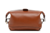 Korchmar Lux Ryder Aniline Leather Top Zipper Toiletry Bag
