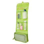 Shuohu Waterproof Travel Make Up Storage Clutch Handbag Foldable Hanging Bag - Green