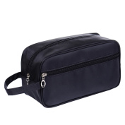 Unisex Men Women Portable Waterproof Big Capacity Travel Toiletry Bag Wash Shaving Bag Makeup Grooming Toilet Bag Dark Blue