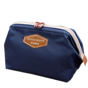 JYS365 Handy Travel Toiletry Bag for Women Cosmetic Pouch Makeup Bag -Dark Blue