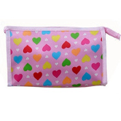 Hearts Beauty Travel Cosmetic Bag Fashion Multicolor Pattern Makeup Pouch Toiletry by Team-Management