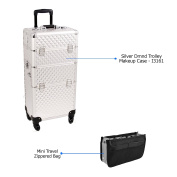Sunrise Professional I3161 Silver Diamond with Carry-On Travel Bag