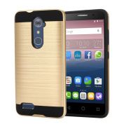 For ZTE Zmax Pro Z981,Sunfei Brushed Hybrid Phone Cover Case