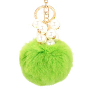 Sunward Wool Plush Fur Ball Cell Phone Car Keychain Pendant Handbag Charm Key Ring