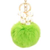 Sunward Wool Plush Fur Ball Cell Phone Car Keychain Pendant Handbag Charm Key Ring