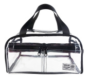 Rough Enough TSA Clear Transparent Fashion Comestic Handbag