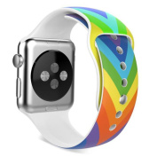 AutumnFall Colourful Sports Silicone Bracelet Strap Band for Apple Watch Series 1, Series 2