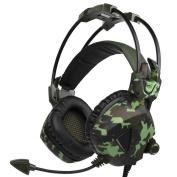 AutumnFall SADES SA931 3.5mm Stereo Wired Surround Gaming Headset Headband Mic Headphone