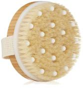Coco's Dry Body Brush - Best Wet & Dry Natural Bristle Bath or Shower Skin Exfoliator