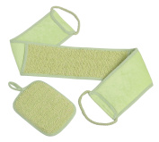 Beauty Back Scrubber Exfoliating Set With Loofah Sponge for Shower for Men and Women Lime