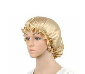 POP-Zone 100% Pure Natural Silk Sleep Night Cap Head Cover Bonnet Hat for Hair Care and Beauty