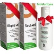 Thea 2 X Blephasol 100Ml Sensitive Eyelids Eye Lotion & Cotton Pads
