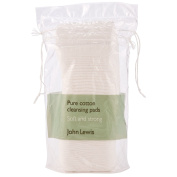 John Lewis Pure Cotton Cleansing Pads x 50