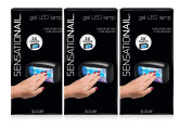 Lot of 3 New Sensationail Gel Led Lamp, 340ml
