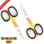Christmas Offer .  8.9cm Stainless Steel Manicure Scissors - Cuticle and Nail Scissors + FREE PVC Pouch Made By Unicorn Plus