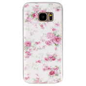 BLT® Soft TPU Sweet Flower Pattern Crystal Rubber Flexible Slim Case for for  for  for  for  for  for  for  for Samsung        Galaxy S7 with a Screen Protector