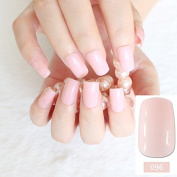 Flat Curved False Nails Beautiful Light Pink Nail Art Acrylic Tips Press-On Nails Full Wraps Easy Use 096M