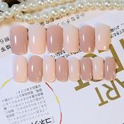 DIY Nail Accessories Shimmer Beige False Nails Beautiful Bent Acrylic Fake Nail Tips 24pcs Nail Set Z246