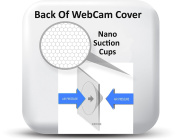 WebCam Cover MINI Black 10 Pack - Laptop and Tablet Webcam Covers