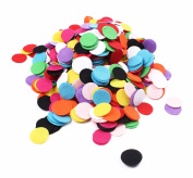 BIHRTC 1000Pcs 2.5cm Mixed Colour Round Felt Circle Felt Pads for DIY and Sewing Handcraft
