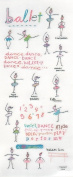 Ballet Stick Figure Stickers - Sheet of 21