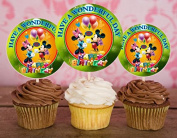 12 Mickey Mouse Happy Birthday Inspired Party Picks, Cupcake Picks, Cupcake Toppers #2
