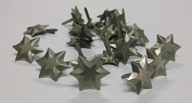 3d Star Brads Brushed Silver - 25pc