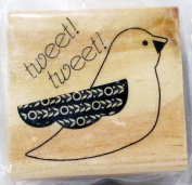 "Wood and Rubber Stamp ""Hoot and Howl"" Bird 5.1cm"