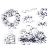 DECORA 1 Piece Different Images Clear Rubber Stamp for Christmas Themed DIY Decoration and Other Scrapbooking Designs.