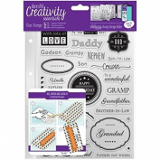 CE907104 Creativity Essentials A5 Clear Stamps - Male Family