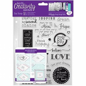 CE907124 Creativity Essentials A5 Clear Stamps - Inspirational Sentiments