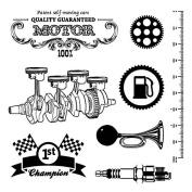 Scrapberry's Clear Stamps 10cm x 10cm -Auto Vintage Motor