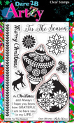 Dare 2B Artzy Tis The Season (16229) Clear Cling Rubber Stamps