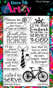 Dare 2B Artzy Called To Serve (16226) Clear Cling Rubber Stamps